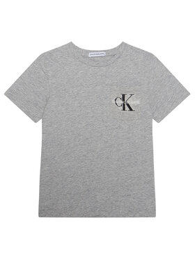 Calvin Klein Jeans Calvin Klein Jeans Tricou Monogram Pocket Top IB0IB00457 Gri Regular Fit