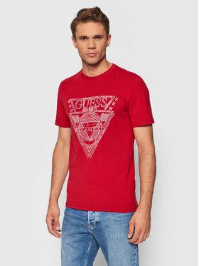Guess Guess T-Shirt M1YI76 J1311 Czerwony Regular Fit
