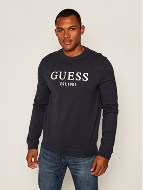 Guess Guess Bluză Bastian M0YQ31 K7ON0 Bleumarin Slim Fit