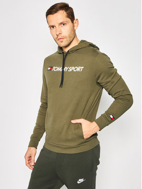Tommy Sport Tommy Sport Džemperis Logo S20S200363 Žalia Regular Fit