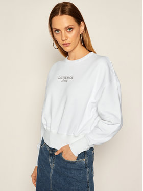 Calvin Klein Jeans Calvin Klein Jeans Sweatshirt Institutional J20J214431 Blanc Regular Fit