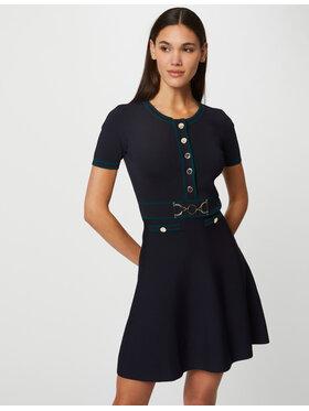 Morgan Morgan Плетена рокля 212-RMENDI Тъмносин Slim Fit