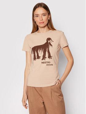 Weekend Max Mara Weekend Max Mara T-Shirt Rana 59760419 Brązowy Regular Fit