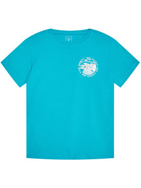 4F 4F T-Shirt HJL21-JTSM008B Modrá Regular Fit