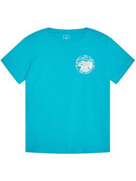 4F 4F T-Shirt HJL21-JTSM008B Niebieski Regular Fit