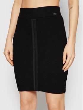 Guess Guess Mini sukňa W1RD04 K8RT2 Čierna Slim Fit