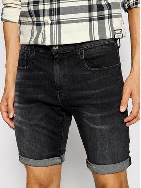 G-Star Raw G-Star Raw Szorty jeansowe 3301 Slim ½ D10481-A634-9887 Czarny Slim Fit