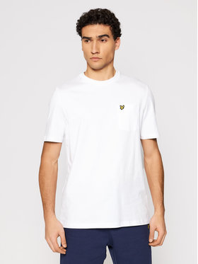 Lyle & Scott Lyle & Scott T-Shirt Pocket TS1364V Biały Relaxed Fit