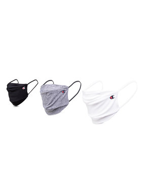 Champion Champion Set di 3 mascherine di tessuto Unisex 805371 EM006 Bianco