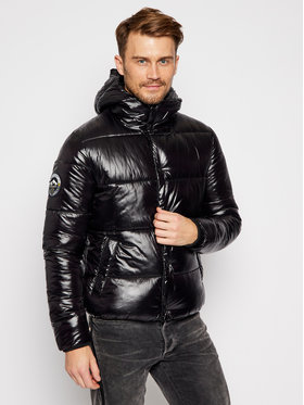 Superdry Superdry Vatovaná bunda High Shine M5010189A Čierna Regular Fit