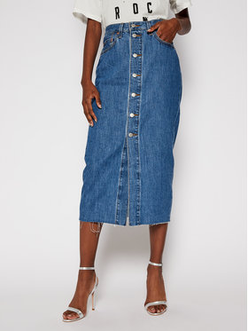 Levi's® Levi's Φούστα τζιν Gonne Donna 85874-0003 Μπλε Regular Fit