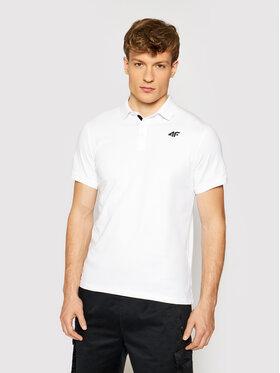 4F 4F Polo marškinėliai TSM007 Balta Regular Fit