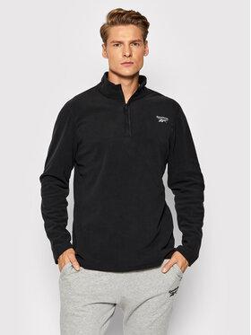 Reebok Reebok Fliso džemperis Outerwear GR8959 Juoda Slim Fit