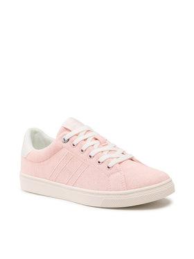 Tommy Hilfiger Tommy Hilfiger Sneakersy Cupsole Plant Dye Textile FW0FW05909 Różowy
