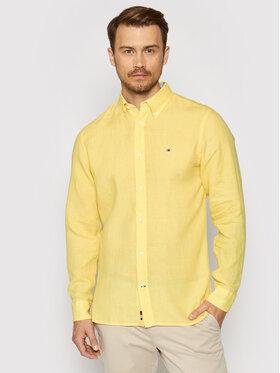 Tommy Hilfiger Tommy Hilfiger Риза Pigment Dyed MW0MW17646 Жълт Regular Fit