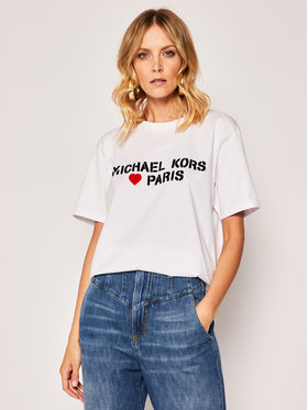 MICHAEL Michael Kors MICHAEL Michael Kors Тишърт Love Paris MS05MK097J Бял Regular Fit