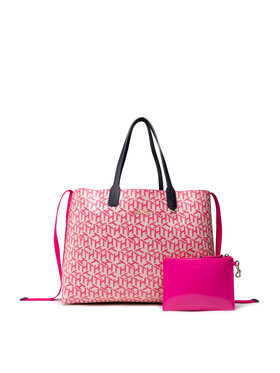 Tommy Hilfiger Tommy Hilfiger Handtasche Iconic Tommy Tote Monogram AW0AW10094 Rosa