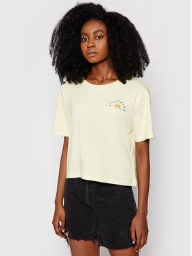 Billabong Billabong T-Shirt Feeling Free W3SS26 BIP1 Żółty Cropped Fit
