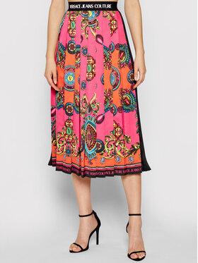 Versace Jeans Couture Versace Jeans Couture Plisovaná sukně Placed 71HAE8P5 Černá Regular Fit