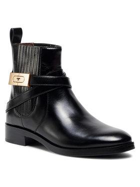 Tory Burch Tory Burch Kotníková obuv s elastickým prvkem 30Mm Chelsea Bootie 74354 Černá