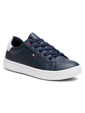 Tommy Hilfiger Tommy Hilfiger Sneakersy Low Cut Lace Up Sneaker T3B4-31086-0193 S Granatowy