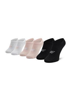 4F 4F Комплект 3 чифта къси чорапи дамски H4L21-SOD008 Розов