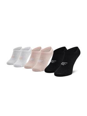 4F 4F Moteriškų trumpų kojinių komplektas (3 poros) H4L21-SOD008 Rožinė