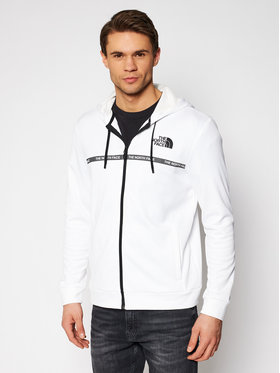 The North Face The North Face Bluză Overlay NF0A5574FN41 Alb Regular Fit