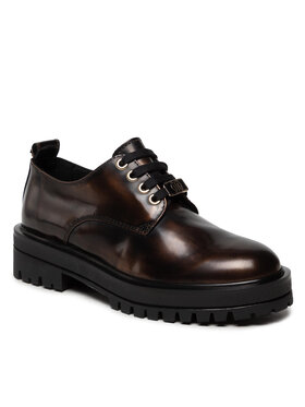 Tommy Hilfiger Tommy Hilfiger Oxfordy Polished Leather Lace Up Shoe FW0FW05930 Brązowy