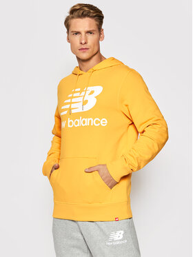 New Balance New Balance Pulóver Essentials Stacked Logo Po MT03558 Sárga Relaxed Fit