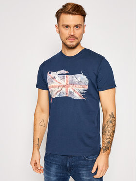 Pepe Jeans Pepe Jeans T-Shirt Sid PM507281 Granatowy Regular Fit