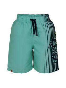 LEGO Wear LEGO Wear Pantalon scurți din material Lninjago CM-51358 22461 Verde Regular Fit