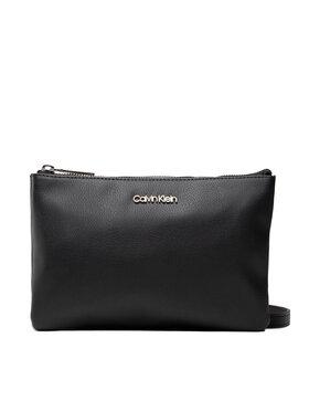 Calvin Klein Calvin Klein Дамска чанта Ck Must Ew Dbl Cpt Xbody K60K608409 Черен