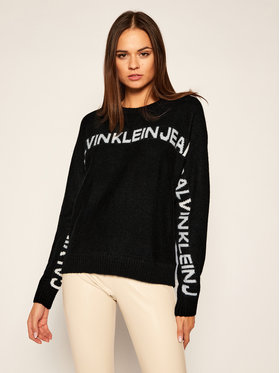 Calvin Klein Jeans Calvin Klein Jeans Pulover Logo J20J215131 Negru Regular Fit