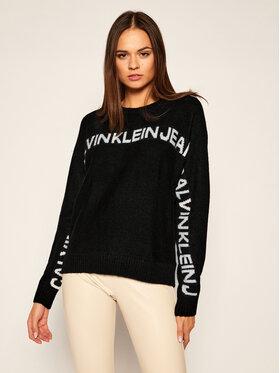 Calvin Klein Jeans Calvin Klein Jeans Sweter Logo J20J215131 Czarny Regular Fit