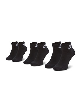 Nike Nike Lot de 3 paires de chaussettes hautes unisexe SK0110-010 Noir