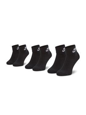 Nike Nike Sada 3 párů vysokých ponožek unisex SK0110-010 Černá