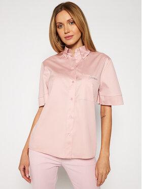 Guess Guess Koszula Kragen W1GH83 WAF10 Różowy Slim Fit