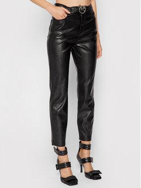 Pinko Pinko Панталони от имитация на кожа Susan 15 1G16WU 7105 Черен Skinny Fit