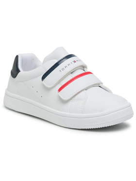 Tommy Hilfiger Tommy Hilfiger Sneakersy Low Cut Velcro Sneaker T1B4-31079-0193Y003 S Biały