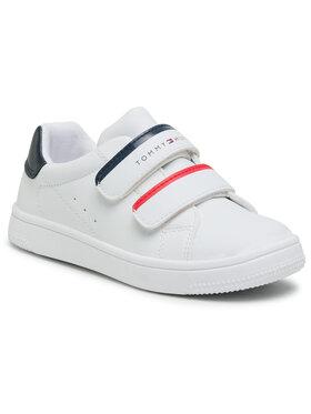 Tommy Hilfiger Tommy Hilfiger Sneakersy Low Cut Velcro Sneaker T1B4-31079-0193Y003 S Biela