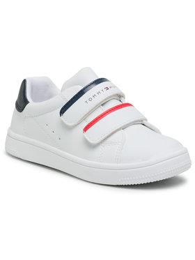 Tommy Hilfiger Tommy Hilfiger Sneakersy Low Cut Velcro Sneaker T1B4-31079-0193Y003 S Bílá