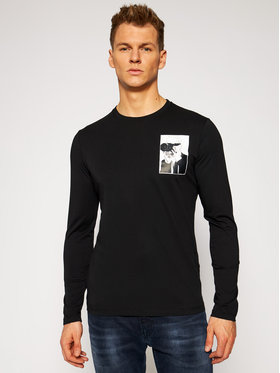 KARL LAGERFELD KARL LAGERFELD Manches longues Crewneck Ls 755048 502224 Noir Regular Fit