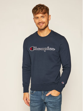 Champion Champion Bluza Script Logo 214720 Granatowy Comfort Fit