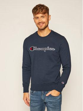 Champion Champion Džemperis Script Logo 214720 Tamsiai mėlyna Comfort Fit