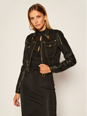 Versace Jeans Couture Versace Jeans Couture Džinsinė striukė C0HZB94W Juoda Regular Fit