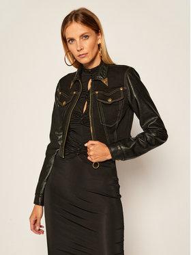 Versace Jeans Couture Versace Jeans Couture Kurtka jeansowa C0HZB94W Czarny Regular Fit