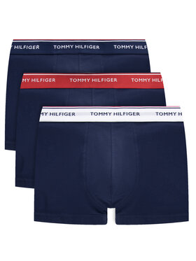 Tommy Hilfiger Tommy Hilfiger Set 3 perechi de boxeri 3P Trunk 1U87903842 Bleumarin