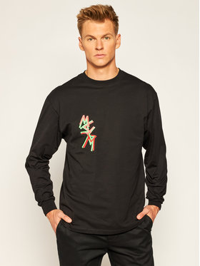MSGM MSGM Тениска с дълъг ръкав 2940MM71 207598 Черен Regular Fit