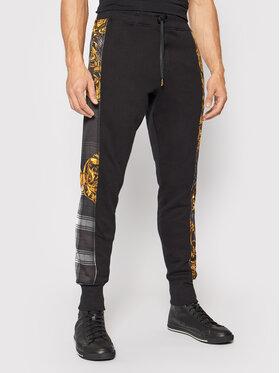 Versace Jeans Couture Versace Jeans Couture Teplákové kalhoty Contrast Highland 71GAA3C6 Černá Regular Fit